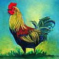 Caroles' Rooster by Linda Weldon