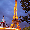 Carousel And Eiffel Tower by Brian Jannsen