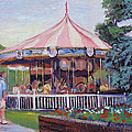Carousel At Put-in-bay by Judy Fischer Walton