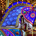 Carousel Beauty Blue Charger by Bob Christopher