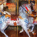 Carousel Horse Photo Art 02 by Thomas Woolworth