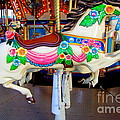 Carousel Horse With Flower Drape by Mary Deal