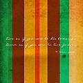 Carpe Diem Serie - Mahatma Gandhi by Andrea Anderegg
