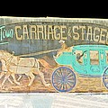 Carriage And Stagecoach Color Invert by Marian Bell
