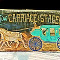 Carriage And Stagecoach Sign by Marian Bell