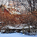 Carriage House In Snow by HD Connelly