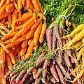 Carrots At The Market by John Trax