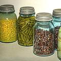 Carrots Vintage Kitchen Glass Jar Canning by LeeAnn McLaneGoetz McLaneGoetzStudioLLCcom