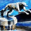 Cars - Lincoln Greyhound Hood Ornament by Susan Savad