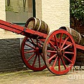Cart Loaded With Wood Beer Barrels by Imran Ahmed