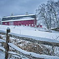 Carter Farm - Litchfield Hills Winter Scene by Thomas Schoeller