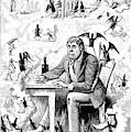 Cartoon Alcoholism, 1874 by Granger