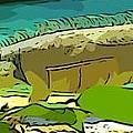 Cartoon Lizard by John Malone