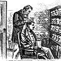 Cartoon: Phrenology, 1865 by Granger