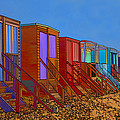 Cartoonised Beach Huts by Chris Thaxter