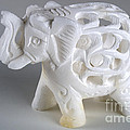 Carved Elephant by Alan Look