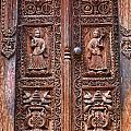 Carved Wooden Door At Bhaktapur In Nepal by Robert Preston