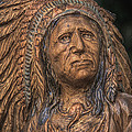 Carved Wooden Indian by Randy Steele