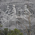 Carving Of Confederate Generals On Stone Mountain by BJ Karp