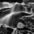Cascades In Black And White by Ellen Heaverlo