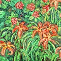 Cascading Day Lilies by Kendall Kessler