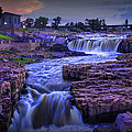 Cascading Waterfalls At Sunset by Randall Nyhof