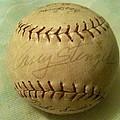 Casey Stengel Baseball Autograph by Lois Ivancin Tavaf