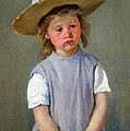 Cassatt's Child In A Straw Hat by Cora Wandel