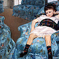 Cassatt's Little Girl In A Blue Armchair by Cora Wandel
