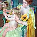 Cassatt's Mother And Child by Cora Wandel