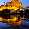 Castel Sant'angelo And The Tiber River by Fabrizio Troiani