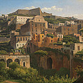 Castel Sant'elmo From Chiaia. Naples by Alexandre-Hyacinthe Dunouy