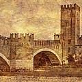 Castel Vecchio And Bridge In Verona Italy by Greg Matchick