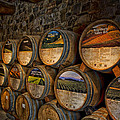 Castello Di Amorosa Of California Wine Barrels by Mountain Dreams