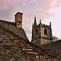 Sunset At Castle Comb Church - Wilshire England by Jon Berghoff