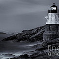 Castle Hill Lighthouse Bw by Jerry Fornarotto