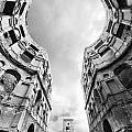 Castle Keyhole In Black And White by Jaroslaw Blaminsky