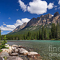 Castle Mountain And The Bow River by Charles Kozierok