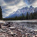 Castle Mountain River View by Diane Dugas