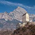 Castle On A Hill In Switzerland by Pierre Leclerc Photography