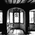 Castle Room With Chair Bw by Mike Nellums