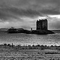Castle Stalker Bw by Gary Eason