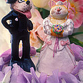 Cat And Dog Bride And Groom by Garry Gay