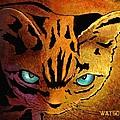 Cat. I'm Watching You by Marlene Watson