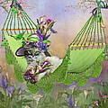 Cat In Calla Lily Hat by Carol Cavalaris
