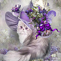 Cat In Easter Lilac Hat by Carol Cavalaris