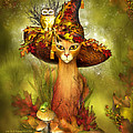 Cat In Fancy Witch Hat 3 by Carol Cavalaris