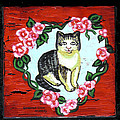Cat In Heart Wreath 1 by Genevieve Esson