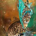 Cat In Leopard Trim Hat by Carol Cavalaris