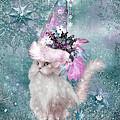 Cat In Snowflake Hat by Carol Cavalaris